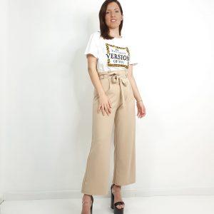pantalón culotte palazzo