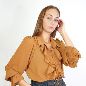 camisa chorrera de gasa