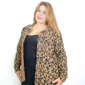 chaqueta animal print