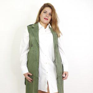 chaqueta sin mangas de antelina
