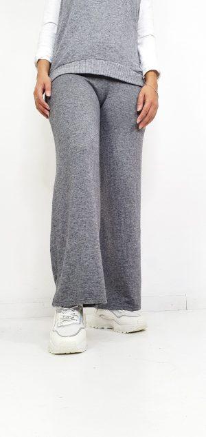 Pantalon de punto wide leg