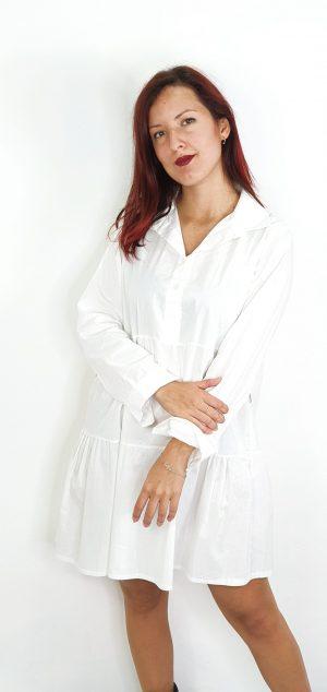 Vestido camisero manga larga
