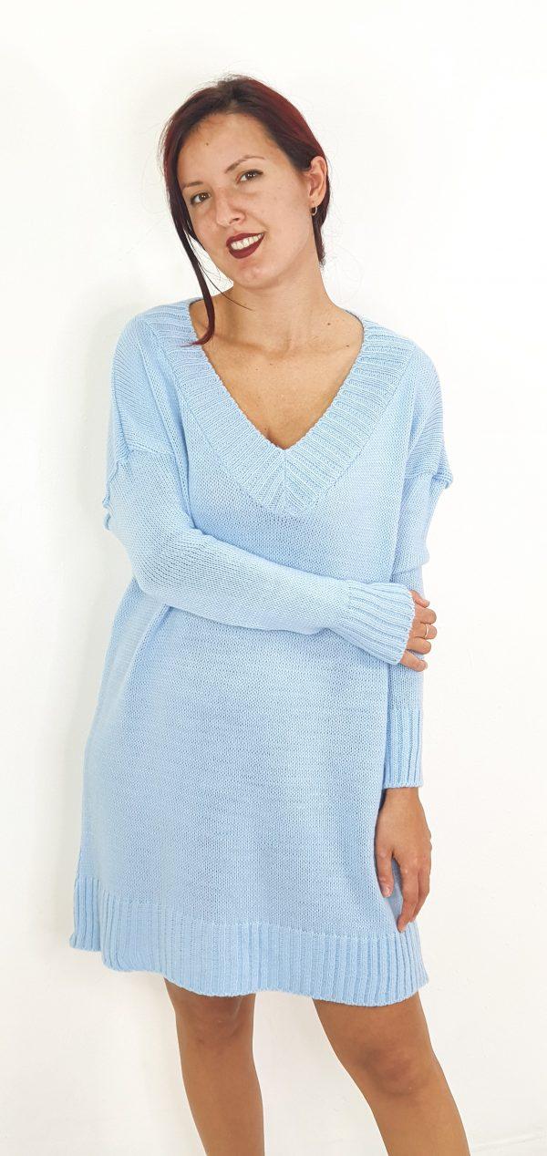 Vestido de lana corto
