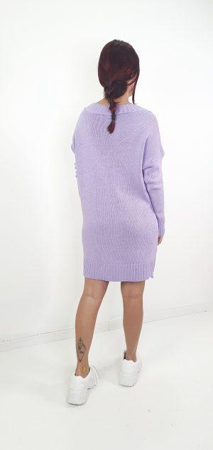 Vestido corto lana