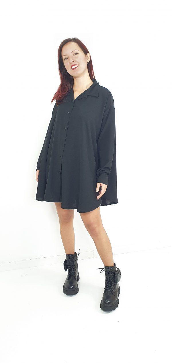 Vestido camisero gasa