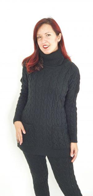 conjunto lana trenza