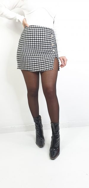 falda mini pata de gallo