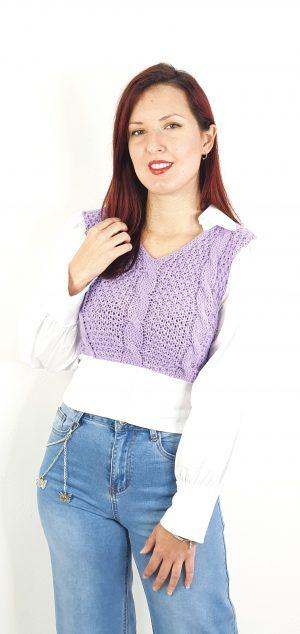 jersey lana combinado camisa