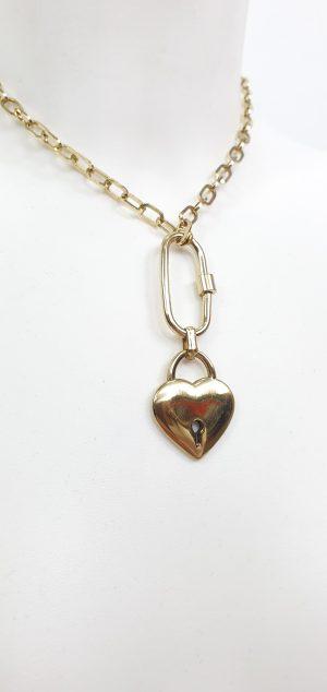 collar candado corazón
