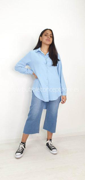 13345 Camisa oversize de gasa