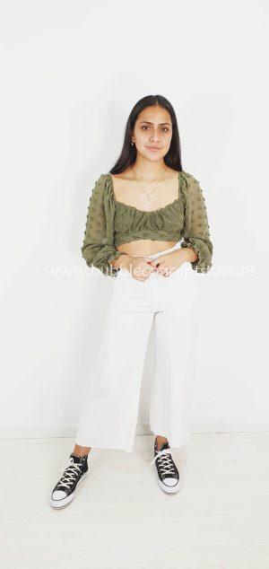 Crop camisa plumeti 10042