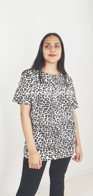 Camiseta de leopardo oversize 08337