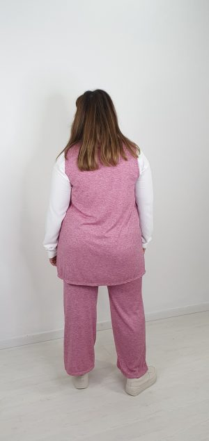 Pantalon pierna ancha bolsillos