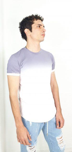 Camiseta degradada de manga corta 2161