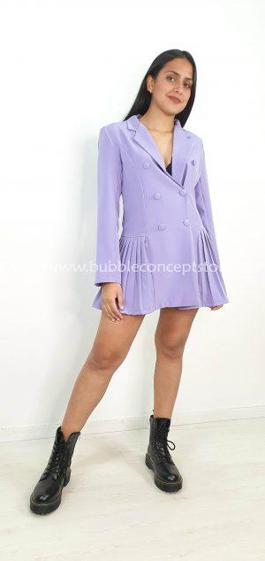 Vestido blazer tablas 17609