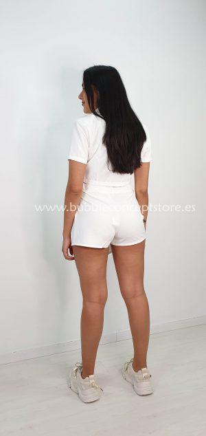 Conjunto falda pantalón con crop chaqueta 4744