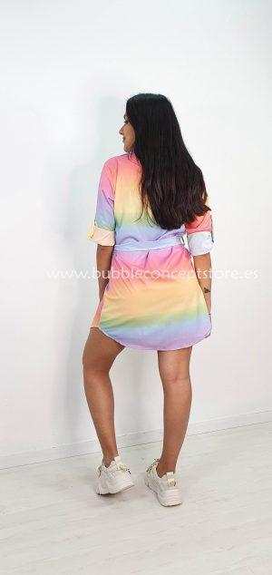 Vestido camisero arcoiris 20507