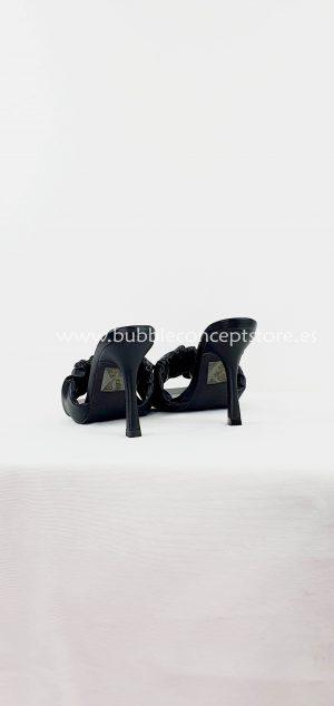 Sandalia tacón pala fruncida M600