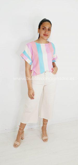 8315 Blusa rayas de colores