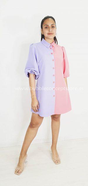Vestido sixties bicolor 8162