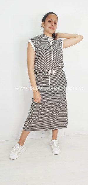 Conjunto rayas falda y sudadera 6113-1
