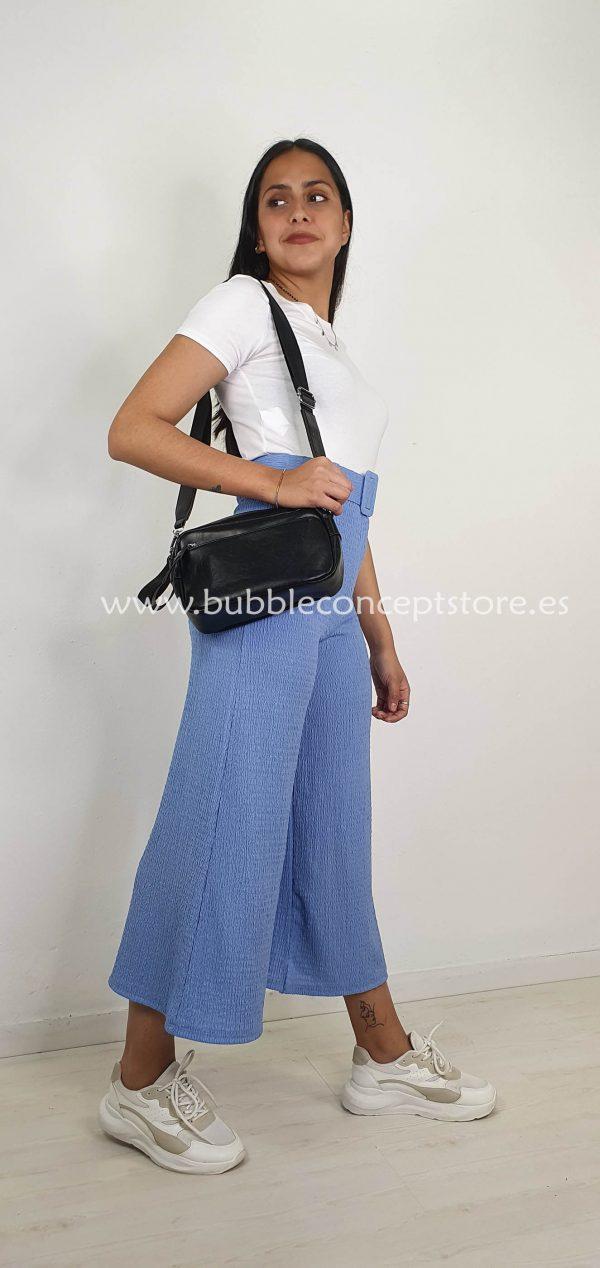 Pantalón capri arrugado 21301