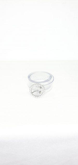 cinturón transparente perlas