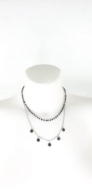 Cadena perlitas negras