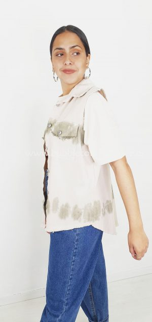 6731 Chaqueta sin mangas tie dye