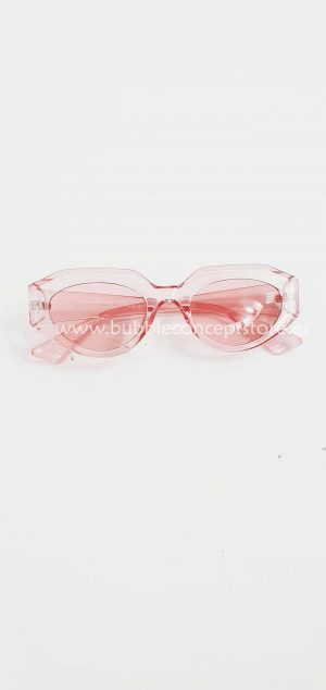 Gafas rosa transparente