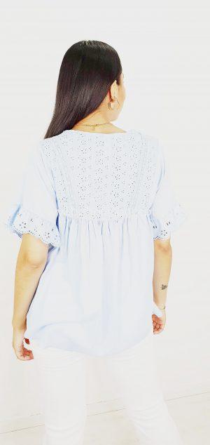 2841 blusa hippie perforada