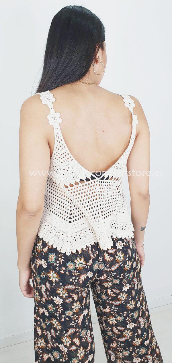 S146 Crop top crochet