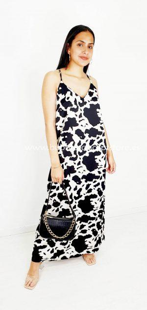 1793 Vestido largo satén vaca