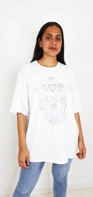8798 Camiseta calavera circonitas
