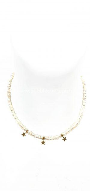 collar perlas estrellas