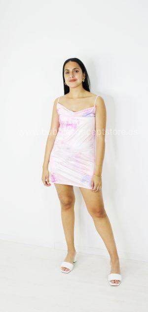 21859 Vestido Tie dye de raso