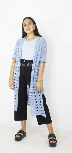 2233 Rebeca larga crochet