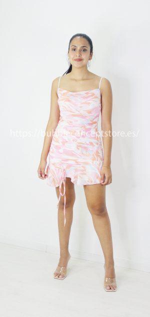 7325 Vestido de gasa colores