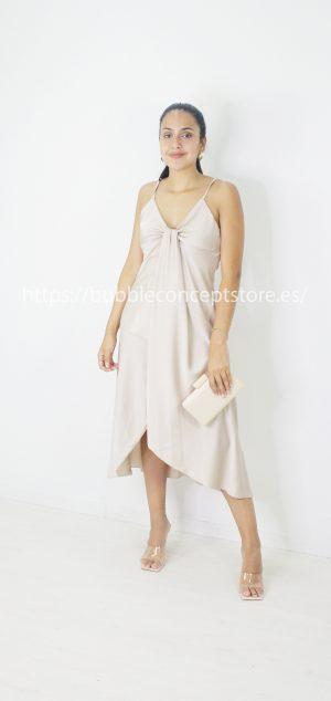 13993 Vestido largo de raso Andrea