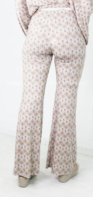 3400 Pantalón de campana licra fría