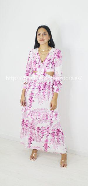 21378 Vestido largo floral Grecia