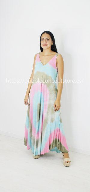 3045 Vestido largo Tie Dye