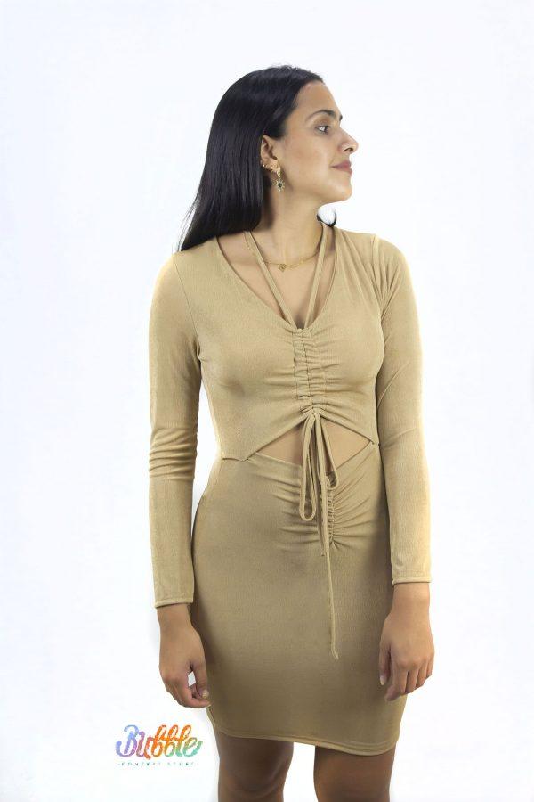 20310 Vestido licra brillante