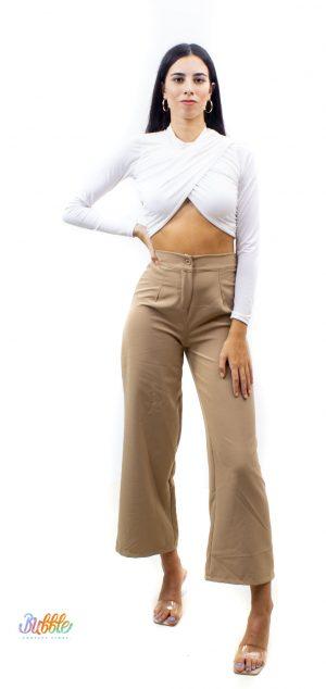 21226 Pantalón pierna ancha vestir