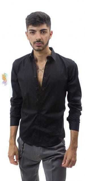 9600 Camisa de vestir negra