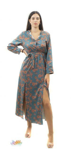 21189 Vestido largo print floral