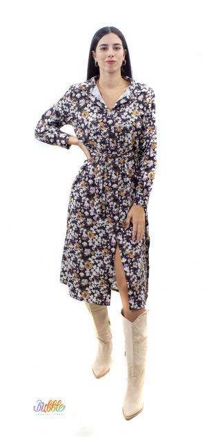 21227 Vestido camisero estampado floral