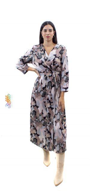 21332 Vestido largo camuflaje