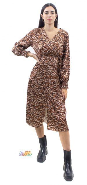 5301 Vestido largo animal print